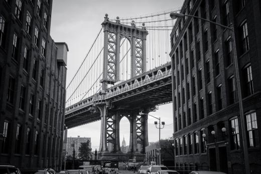 Manhattan Bridge von Washington Street